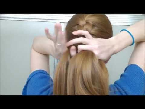 How to french braid your own hair in one part