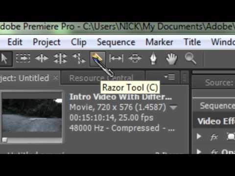 Adobe Premier Pro CS5 Tutorials - How To Cut and Shorten Videos