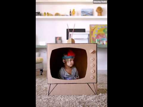 DIY Kids Cardboard Tv Ideas