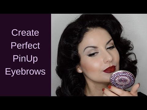 How to create the perfect vintage pinup eyebrows tutorial by Nena Moreno