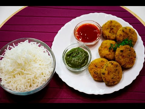 Crispy Rice Cutlets-Leftover Rice Patties | chefharpalsingh