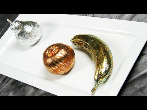 Art Lesson:  How to Sculpt Fruit and Gild it with Designer Leaf