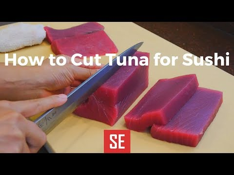 How to Cut Tuna Loin for Sushi | How to Make Sushi