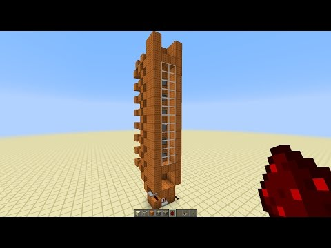 Minecraft - UPDATED Fast Piston Elevator For 1.8/1.12 [Tutorial]