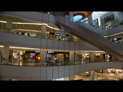 A look inside the new Lotte World Mall in Seoul, South Korea