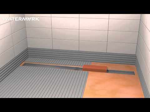 Installing Watermark Designs' Linear Shower Drain