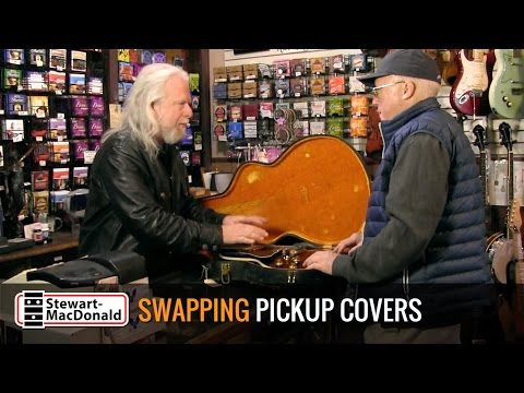 Swapping pickup covers on a rare Gibson Lucille