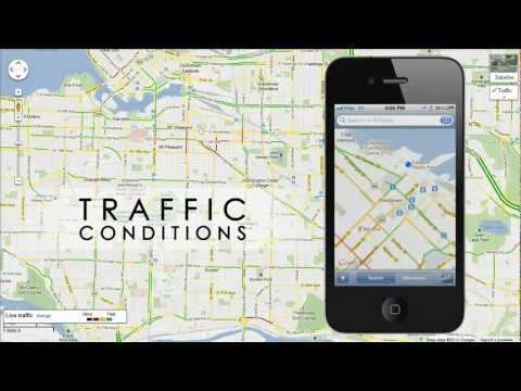 How to Check TRAFFIC CONDITIONS on iPhone, iPod, iPad