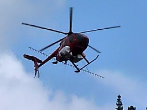 Extreme helicopter aerial spraying