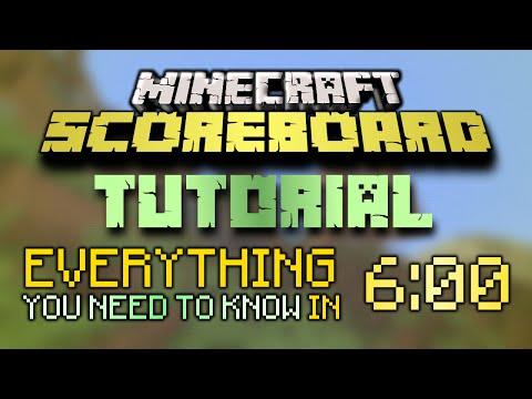 Minecraft Scoreboard Tutorial: Objectives, Players and Selectors (/scoreboard basics)