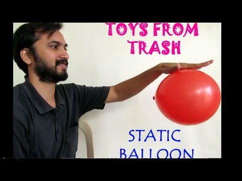 STATIC BALLOON - ENGLISH - Fun Experiment with Static Electricity!