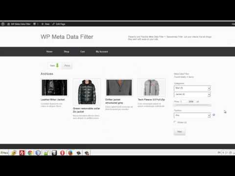 WordPress Meta Data Filter + Taxonomies