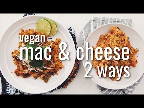 VEGAN MAC & CHEESE 2 WAYS (THAI RED CURRY & PIZZA) | hot for food