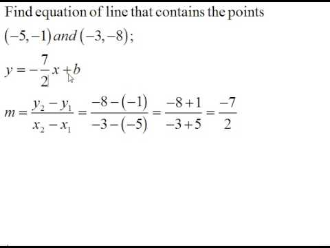 Find the Equation of a Line Given Two Points