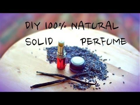 Natural Solid Perfume & Herbal Infused OiL, Lavender-Vanilla In Coconut Oil
