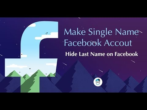 How to make single name facebook account | Removem last name on fb | Tech Travel