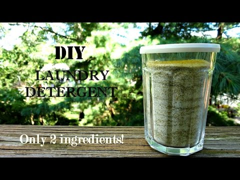 DIY Natural Laundry Detergent- 2 ingredients!