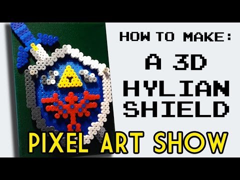 Perler Beads Tutorial: How to Make a 3D Mini-Hylian Shield from Legend of Zelda - Pixel Art Show
