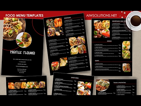 How to edit restaurant menu using photoshop