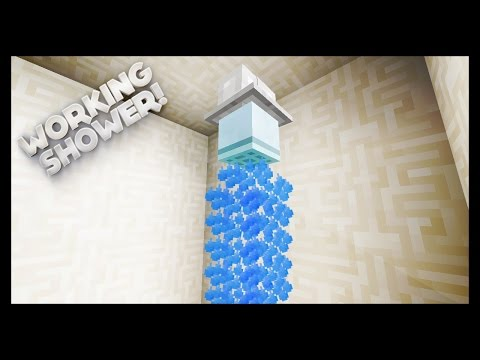 Minecraft - How To Make A Working Shower
