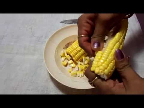 How to peel Sweet Corn fast and easy