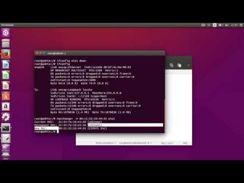 how to change mac address - wlan - ubuntu