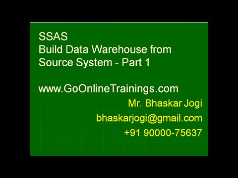 SSAS Part4 - Build Data Warehouse from Source System - Part 1