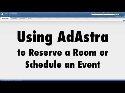 Room and Event Requests with Ad Astra