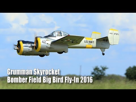 RC Grumman XF5F Skyrocket / Bomber Field Bird Bird Fly-In 2016