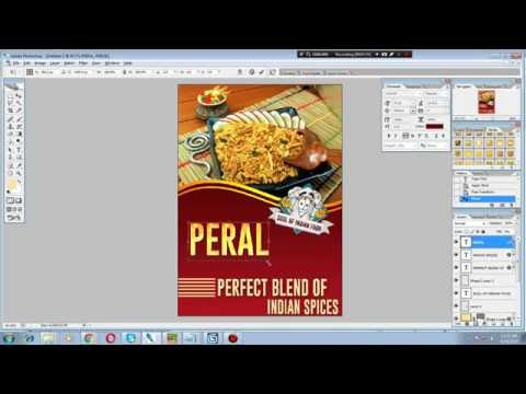 How to design front page of brochure in Photoshop