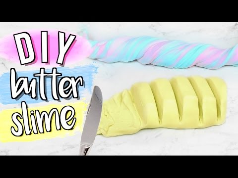 DIY Butter Slime without Clay or Borax Powder | JENerationDIY