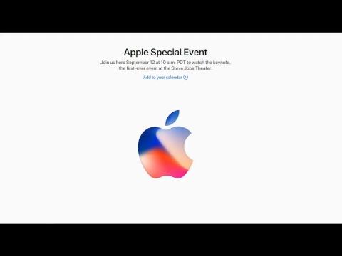 Livestream Apple Event 9-12-2017 Steve Jobs Theater