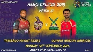 Match 27 Highlights | #TKRvGAW | #CPL19