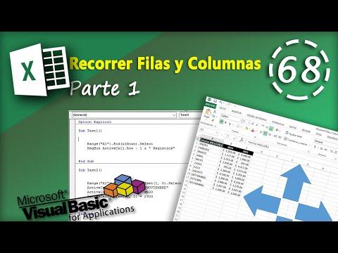 Recorrer Filas y Columnas Parte 1 | VBA Excel 2013 #68