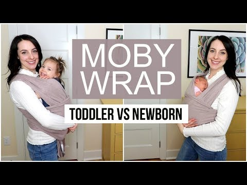 How To: Moby Wrap- Newborn vs Toddler Tutorial ♡ NaturallyBrittany