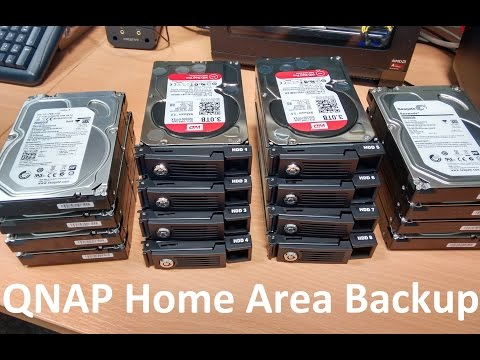 Setting up User Area Backups to a QNAP Raid 10 Server 24TBs