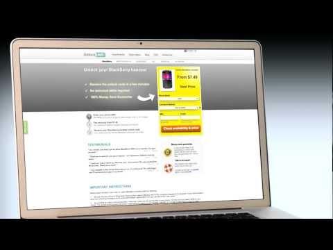 UNLOCK BLACKBERRY PHONE - HOW TO UNLOCK YOUR BLACKBERRY HANDSET