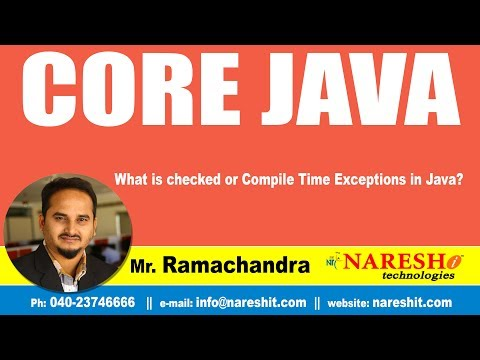 Core Java Tutorials | What is checked or Compile Time Exceptions in Java? | Mr.Ramchander
