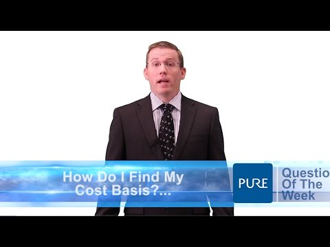 How do I Find My Cost Basis?