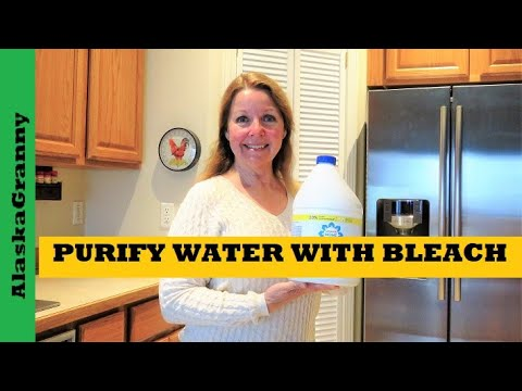 How To Purify Water With Bleach