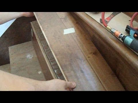 Prefinished Stair Treads Installation: How-to Measure Mark and Cut  DIY Tips Mryoucandoityourself