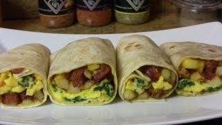Potato Egg Smoked Sausage Breakfast Burrito An Easy Breakfast Recipe