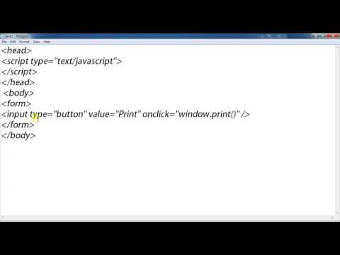 HOW TO CREATE PRINTER CONNECTION BUTTON IN THE WEB PAGE USING JAVASCRIPT