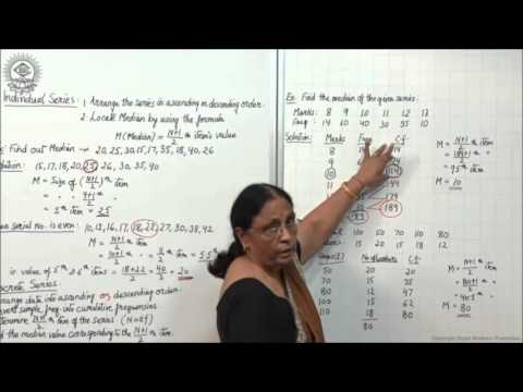 Median Individual and Discrete Series Class XI Economics by Manju goyal
