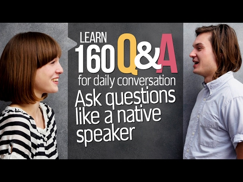 Learn Basic English Questions & Answers for Conversation - English speaking practice for beginners.