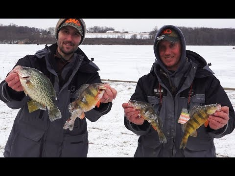 2018 Ice Fishing Jumbo Perch and Slab Crappie - Western Pa Hardwater Series Tournament Kahle Lake