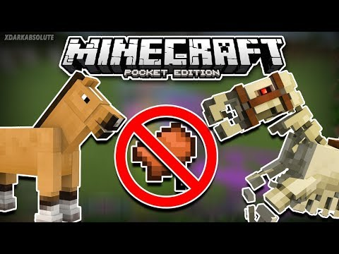 How To Ride A Horse Without A Saddle in Minecraft 1.2 (Pocket Edition)