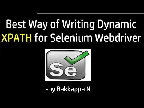 Dynamic XPath in Selenium in Multiple ways