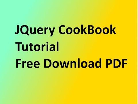 JQuery CookBook Tutorial Free Download PDF