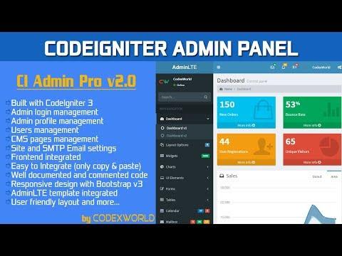 CodeIgniter Admin Panel